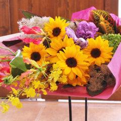 季節の花束「ひまわりの花束」