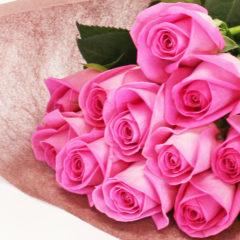 本数が選べるバラの花束(ピンク)