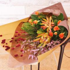 花束『スワッグで楽しめる秋の花束』